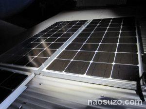ソーラーパネル設置工事中(夜間)